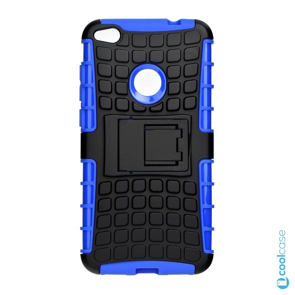 Odolné pouzdro PANZER CASE na mobil Huawei P9 Lite (2017) / Honor 8 Lite Modré (Odolný kryt či obal na mobil Huawei P9 Lite (2017) se stojánkem)