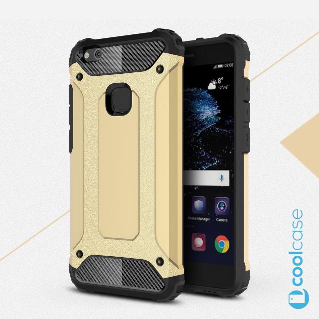 Odolné pouzdro BRUTAL ARMOR na mobilní telefon Huawei P10 Lite Zlatavé (Odolný kryt či obal na mobil Huawei P10 Lite)