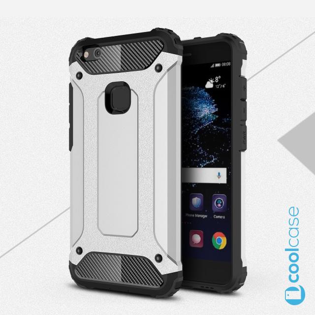 Odolné pouzdro BRUTAL ARMOR na mobilní telefon Huawei P10 Lite Stříbrné (Odolný kryt či obal na mobil Huawei P10 Lite)