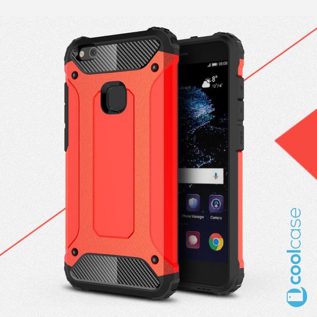 Odolné pouzdro BRUTAL ARMOR na mobilní telefon Huawei P10 Lite Červené (Odolný kryt či obal na mobil Huawei P10 Lite)