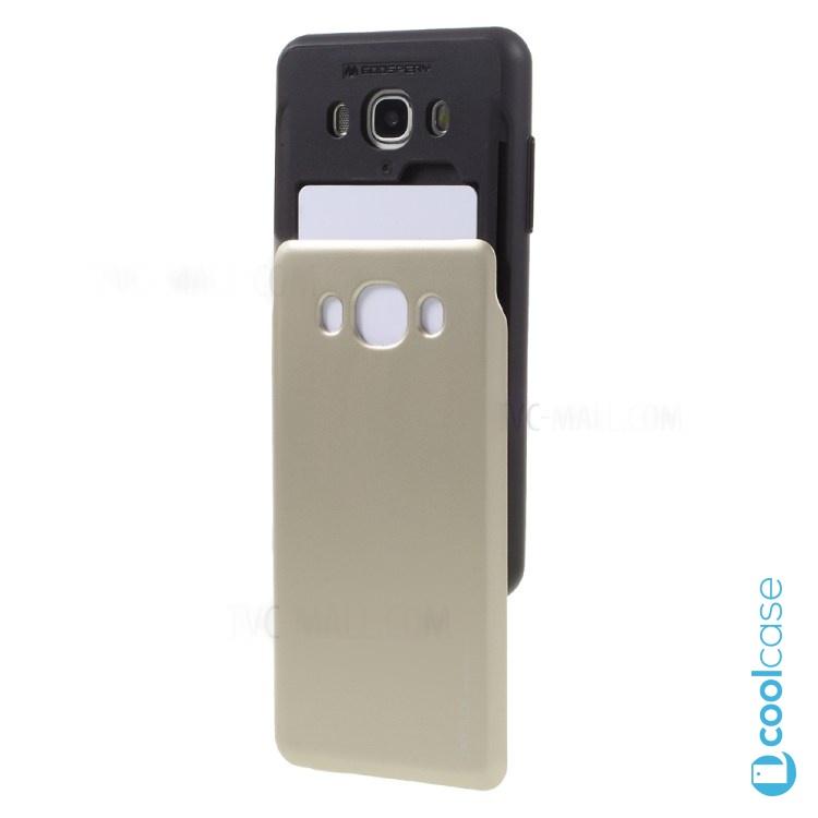 Pouzdro Sky Slide na Samsung Galaxy J5 (2016) + slot na 2 platební karty Zlaté (Silikonový kryt či obal na mobilní telefon Samsung Galaxy J5 (2016) SM-J510)