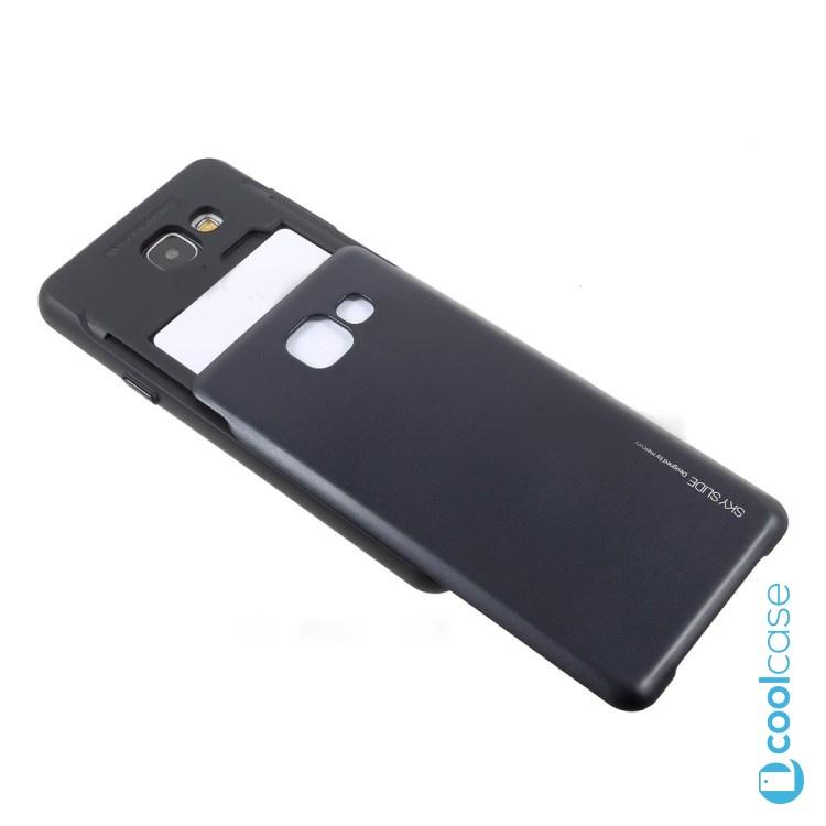 Pouzdro Sky Slide na Samsung Galaxy A5 (2016) + slot na 2 platební karty Černé (Silikonový kryt či obal na mobilní telefon Samsung Galaxy A5 2016)