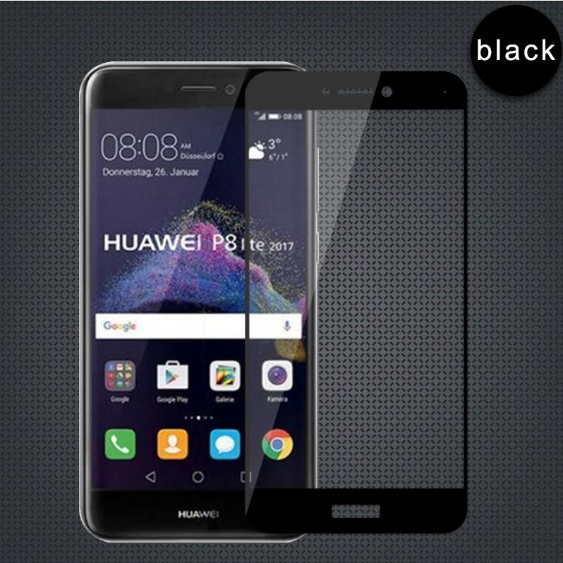 Ochranné tvrzené sklo na celý displej Huawei P9 Lite (2017) / Honor 8 Lite Černé (Tvrzenné ochranné sklo Huawei P9 Lite (2017) / Honor 8 Lite na celý displej)