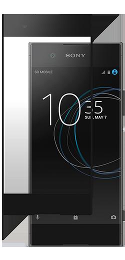 Ochranné tvrzené sklo Roxfit na Sony Xperia XA1 na celou plochu displeje - černé (Tvrzenné ochranné sklo Sony Xperia XA1)