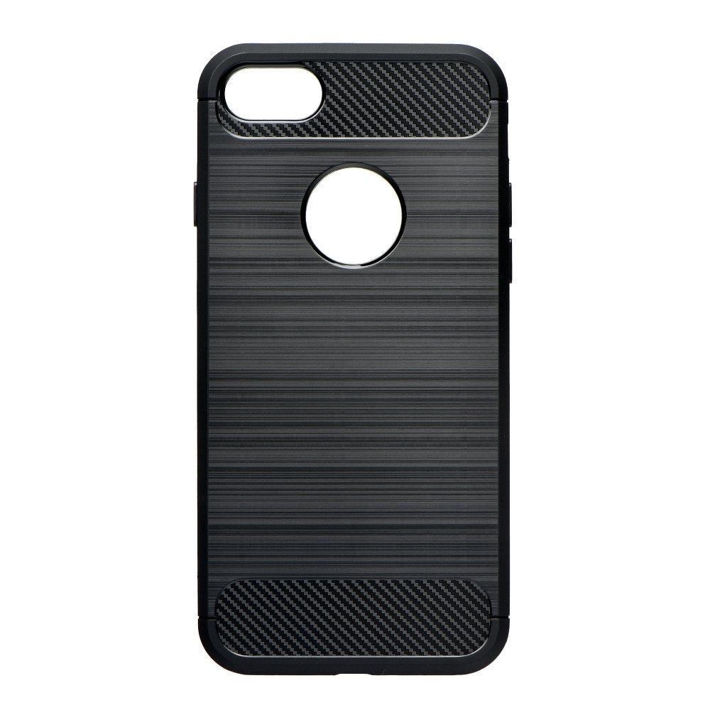 Silikonové pouzdro Carbon Brushed na mobil Apple iPhone SE, 5 a 5S Černé (Silikonový kryt či obal na mobilní telefon Apple iPhone SE, 5 a 5S)