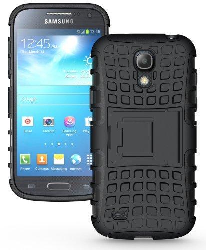 Odolné pouzdro PANZER CASE na mobil Samsung Galaxy S4 Mini Černé + fólie (Odolný kryt či obal na mobil Samsung Galaxy S4 Mini + fólie a stylus)