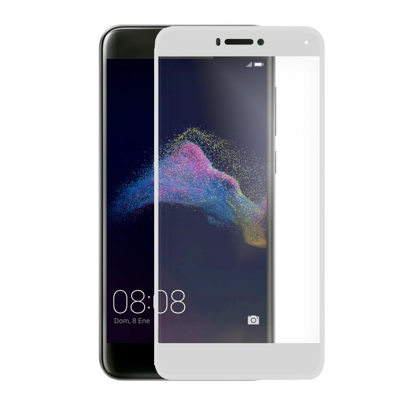 Ochranné tvrzené sklo na celý displej Huawei P9 Lite (2017)/ Honor 8 Lite Bílé (Tvrzenné ochranné sklo Huawei P9 Lite (2017)/ Honor 8 Lite na rovnou plochu displeje)