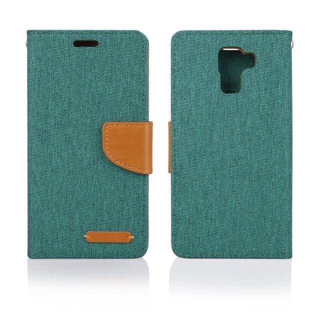 Luxusní flipové pouzdro Aligator Canvas Book pro Samsung Galaxy S7 EDGE Zelené (Flipové knížkové vyklápěcí pouzdro na mobilní telefon Samsung Galaxy S7 EDGE v zeleném provedení)