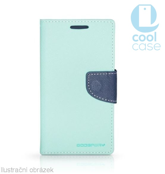 Flipové pouzdro FANCY BOOK na mobil HTC Desire 650 Azurové (Flipové knížkové vyklápěcí pouzdro na mobilní telefon HTC DESIRE 650 v azurovém provedení)
