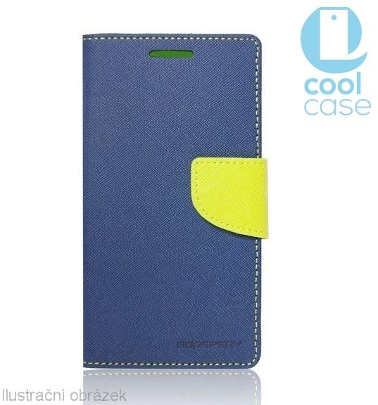 Flipové pouzdro FANCY BOOK na mobil HTC Desire 650 Modré (Flipové knížkové vyklápěcí pouzdro na mobilní telefon HTC DESIRE 650 v modrém provedení)
