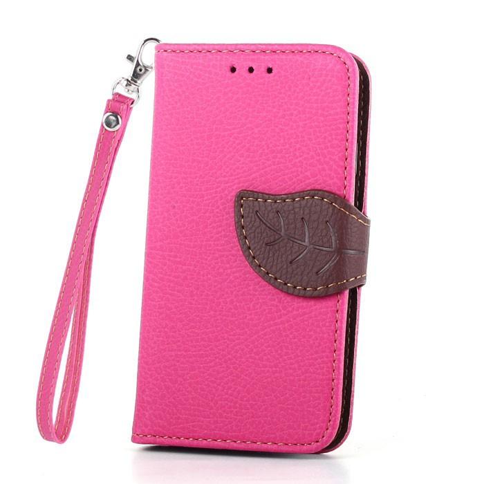 Flipové pouzdro LEAF BOOK Samsung Galaxy S5 Mini Růžové (Flip kryt či obal na mobil Samsung Galaxy S5 Mini Růžové)