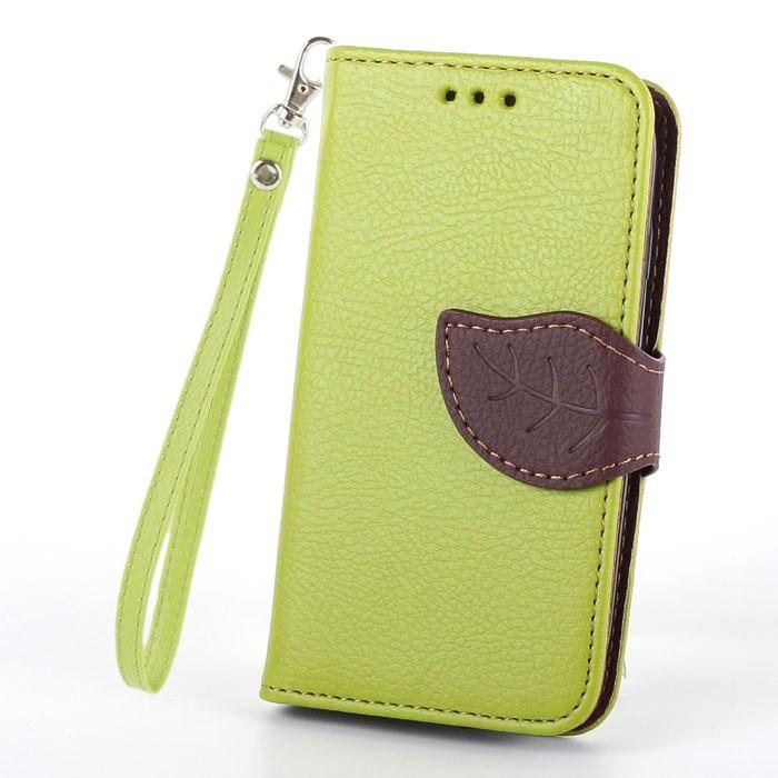 Flipové pouzdro LEAF BOOK Samsung Galaxy S5 Mini Zelené (Flip kryt či obal na mobil Samsung Galaxy S5 Mini Zelené)