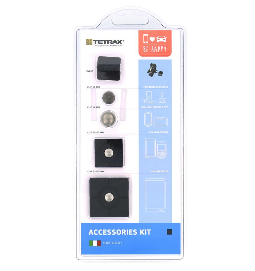 Sada náhradních magnetů Tetrax Accessories kit Black (EU Blister)