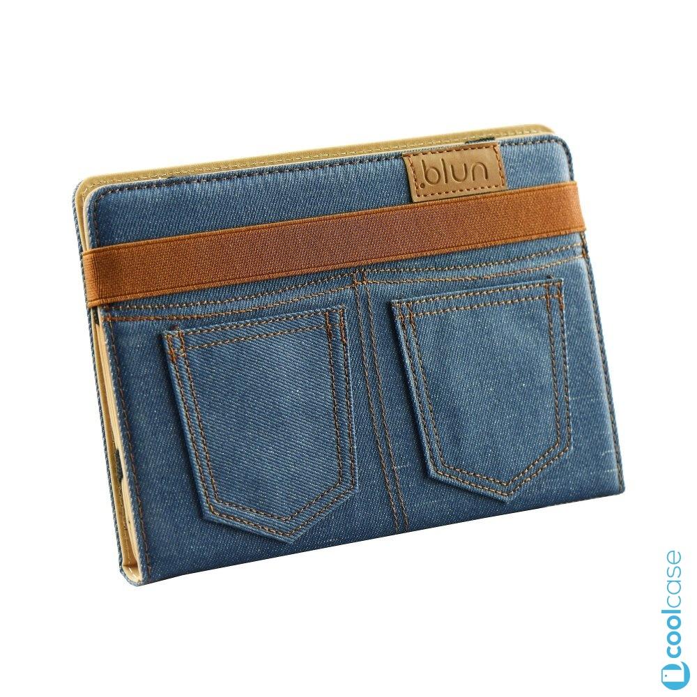 """Univerzální pouzdro Blun Jeans na tablety 7 palců Modré (Pouzdro Blun Jeans pro 7"""" tablety s možnostá přetvoření ve stojánek v modré barvě)"""
