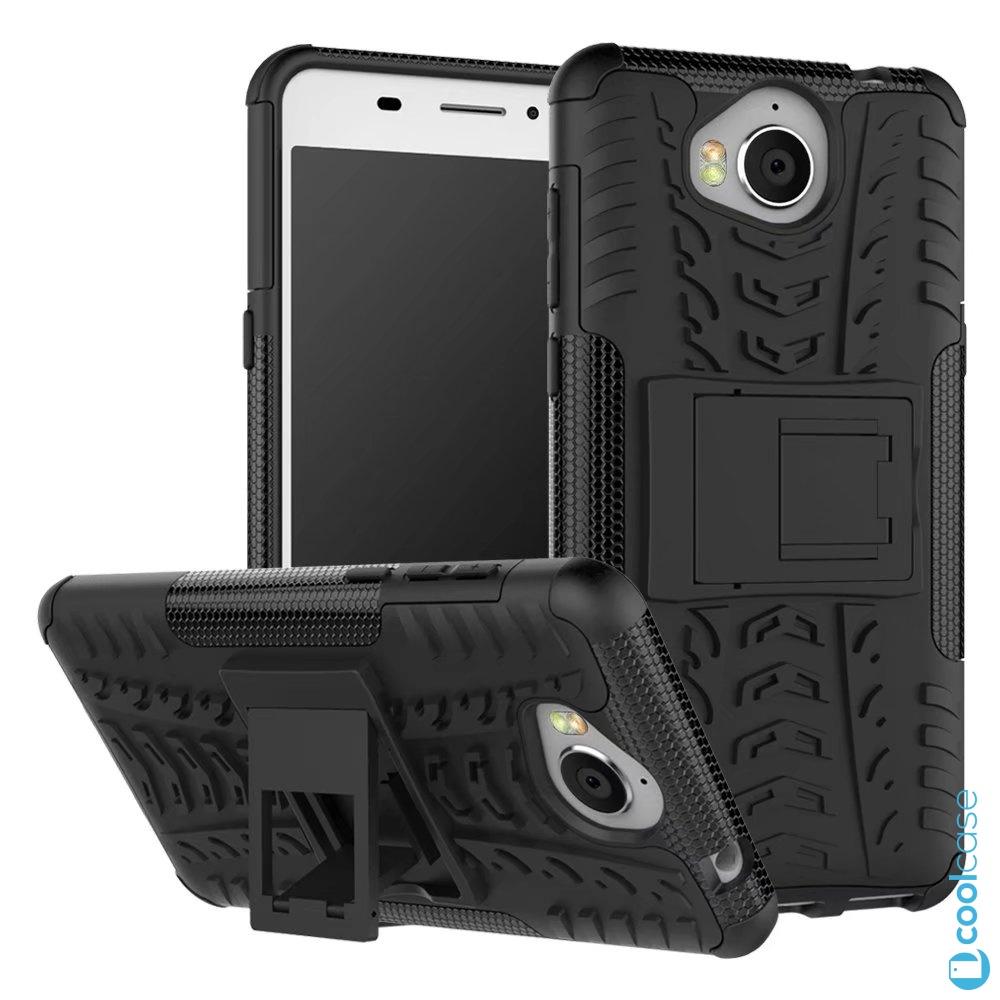 Odolné pouzdro na mobil PANZER CASE NEO na mobil Huawei Nova Smart Černé (Odolný kryt či obal na mobil Huawei Nova Smart se stojánkem černé)