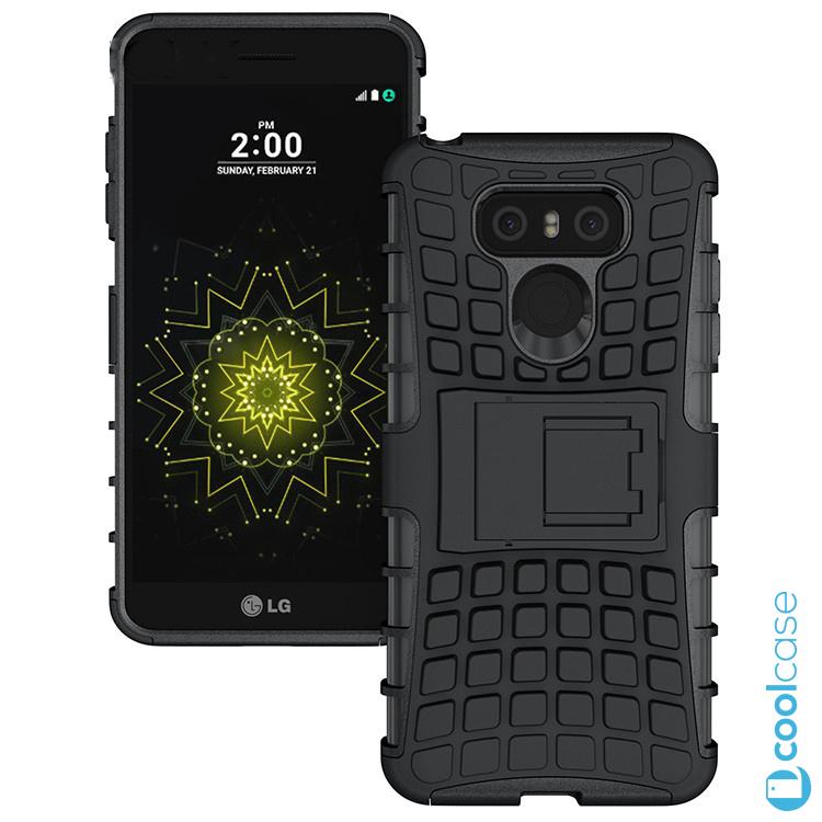 Odolné pouzdro PANZER CASE na mobilní telefon LG G6 Černé