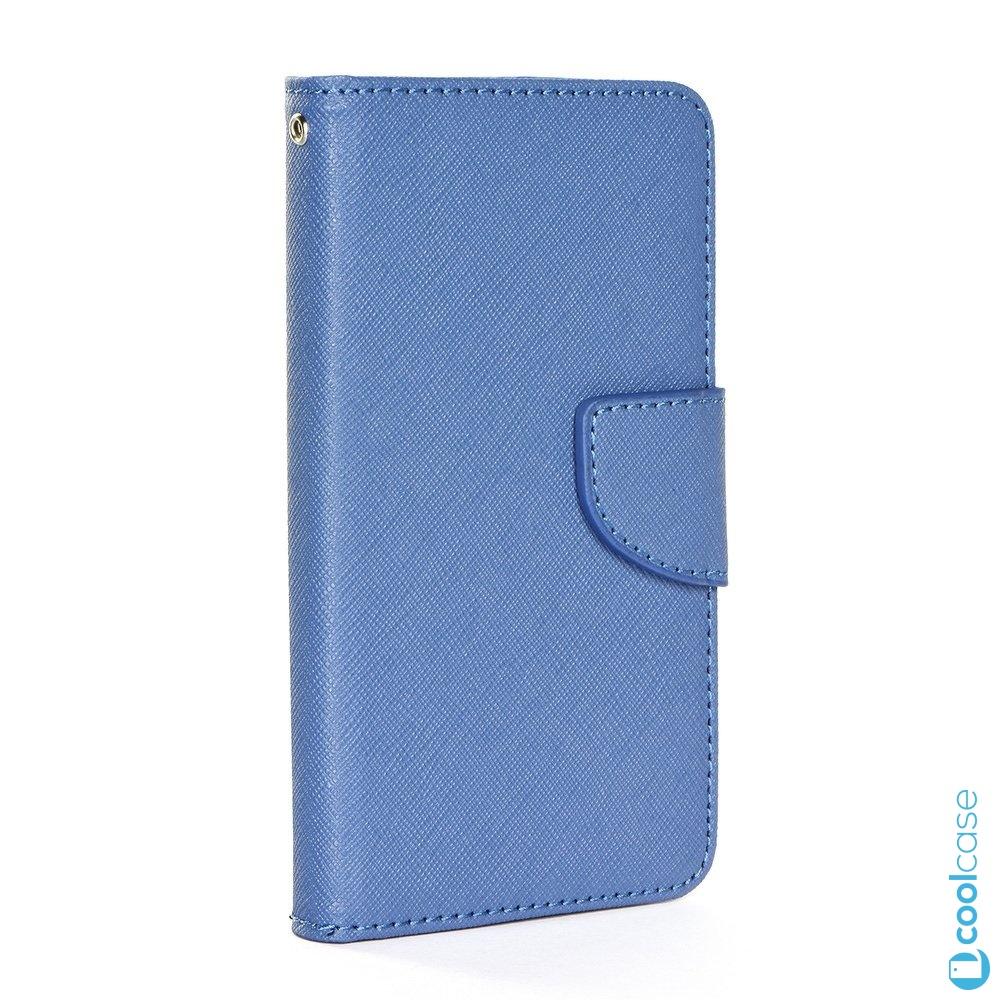 """Univerzální flipové pouzdro FANCY BOOK na mobily 4,8 - 5,3 """" modré (Flipové univerzální knížkové vyklápěcí pouzdro Fancy Book na mobilní telefony s úhlopříčkou 4,8 - 5,3 palců v modré barvě)"""