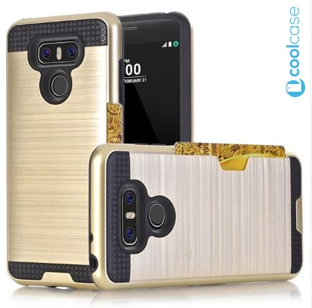 Odolné pouzdro HYBRID CASE na mobilní telefon LG G6 Zlatavé