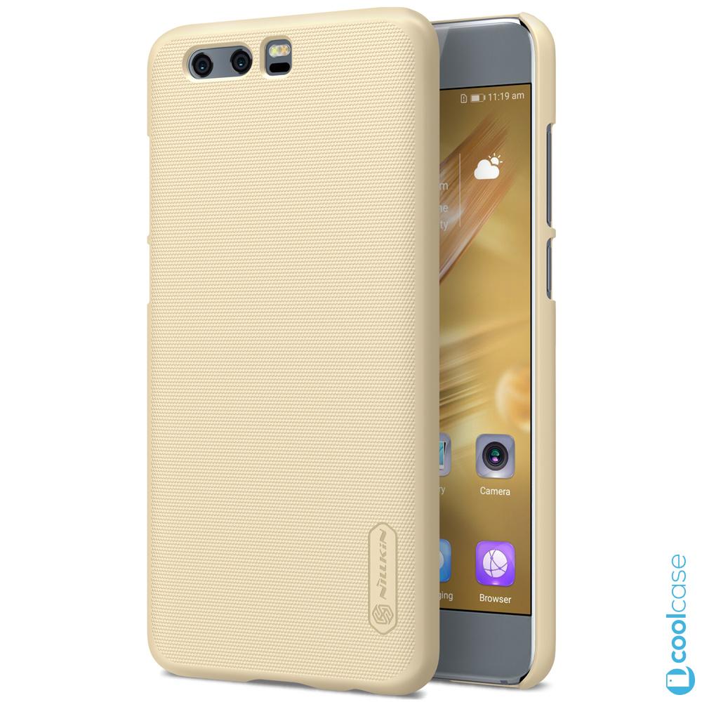 Plastové pouzdro na mobilní telefon Nillkin Super Frosted pro Honor 9 Zlaté (Kryt či obal Nillkin na mobil Honor 9 zlatavé + fólie na displej)