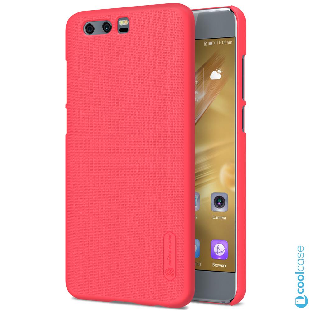 Plastové pouzdro na mobilní telefon Nillkin Super Frosted pro Honor 9 Červené (Kryt či obal Nillkin na mobil Honor 9 Červené + fólie na displej)