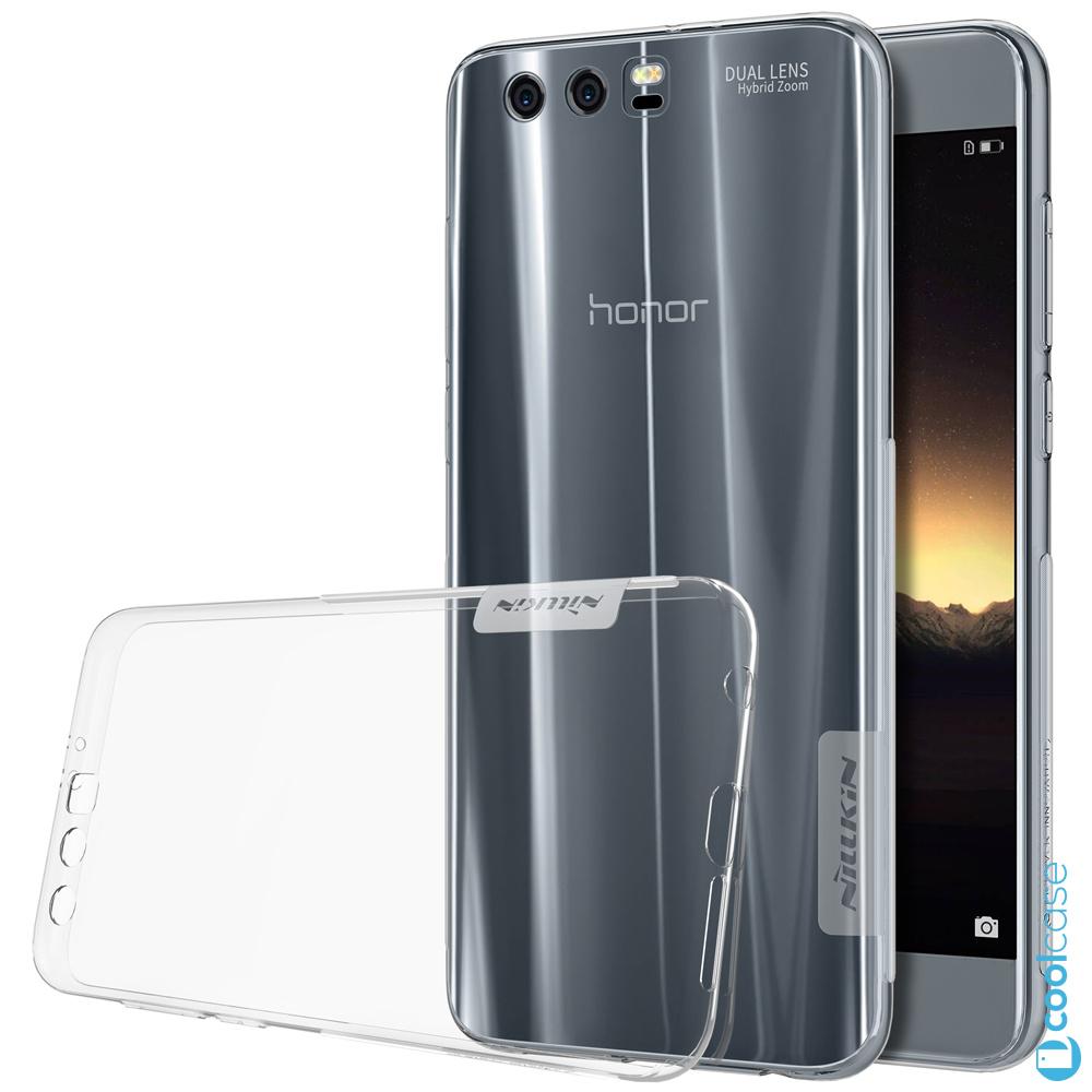 Silikonové pouzdro Nillkin Nature 0,6 mm na mobil Honor 9 tmavé (Silikonový kryt či obal na mobil Huawei Honor 9 tmavé)