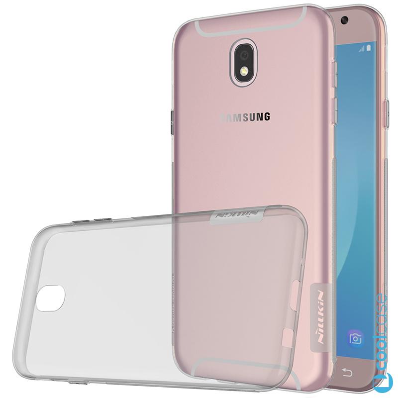 Silikonové pouzdro Nillkin Nature 0,6 mm na mobil Samsung Galaxy J5 2017 Tmavé (Silikonový kryt či obal Nillkin Nature na mobilní telefon Samsung Galaxy J5 (2017) SM-J530 v tmavé barvě)