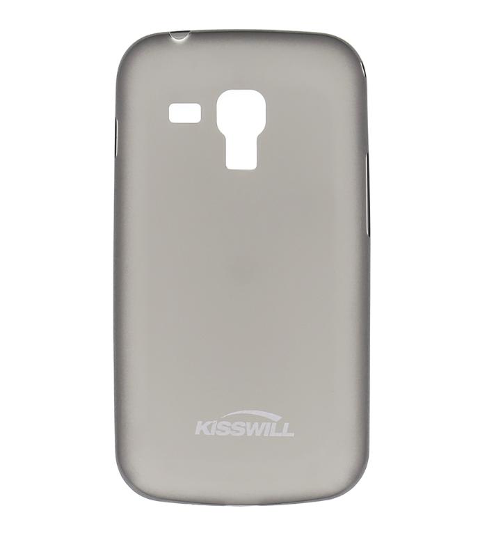 Silikonové pouzdro Kisswill na mobil Samsung Galaxy Trend Plus Tmavé (Silikonový kryt či obal Kisswill na mobilní telefon Samsung Galaxy Trend / Trend Plus Tmavé)