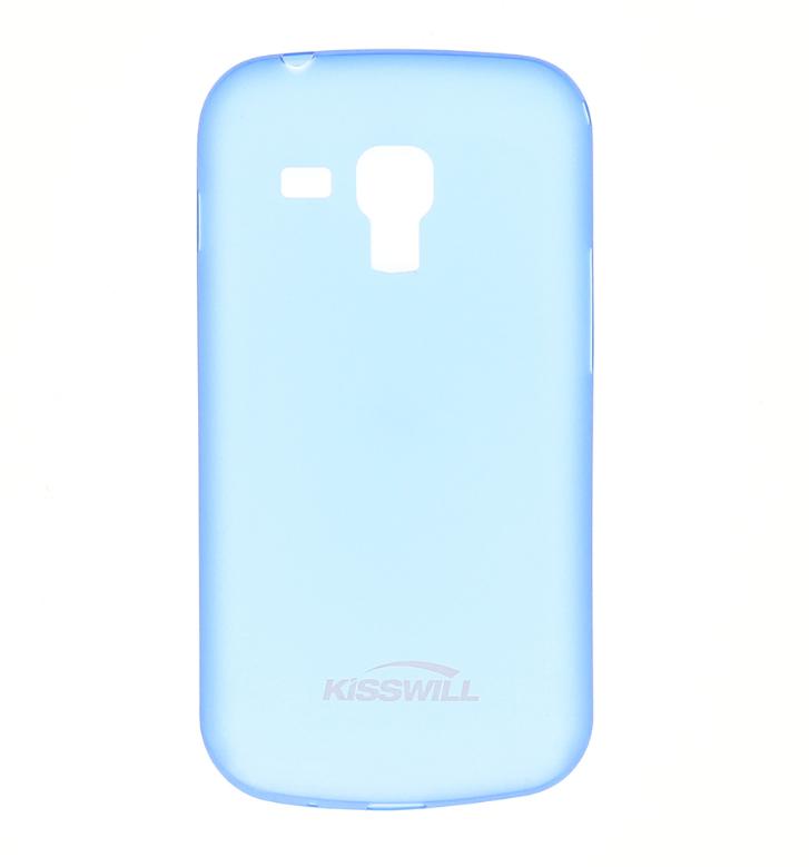 Silikonové pouzdro Kisswill na mobil Samsung Galaxy Trend Plus Modré (Silikonový kryt či obal Kisswill na mobilní telefon Samsung Galaxy Trend / Trend Plus Modré)
