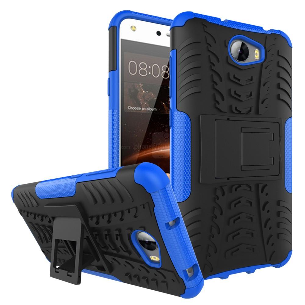 Odolné pouzdro PANZER CASE NEO na mobil Huawei Y5 II / Y6 II Compact Modré (Odolný kryt či obal na mobil Huawei Y5 II se stojánkem)