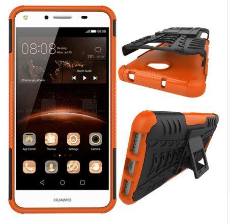 Odolné pouzdro PANZER CASE NEO na mobil Huawei Y5 II / Y6 II Compact Oranžové (Odolný kryt či obal na mobil Huawei Y5 II se stojánkem)