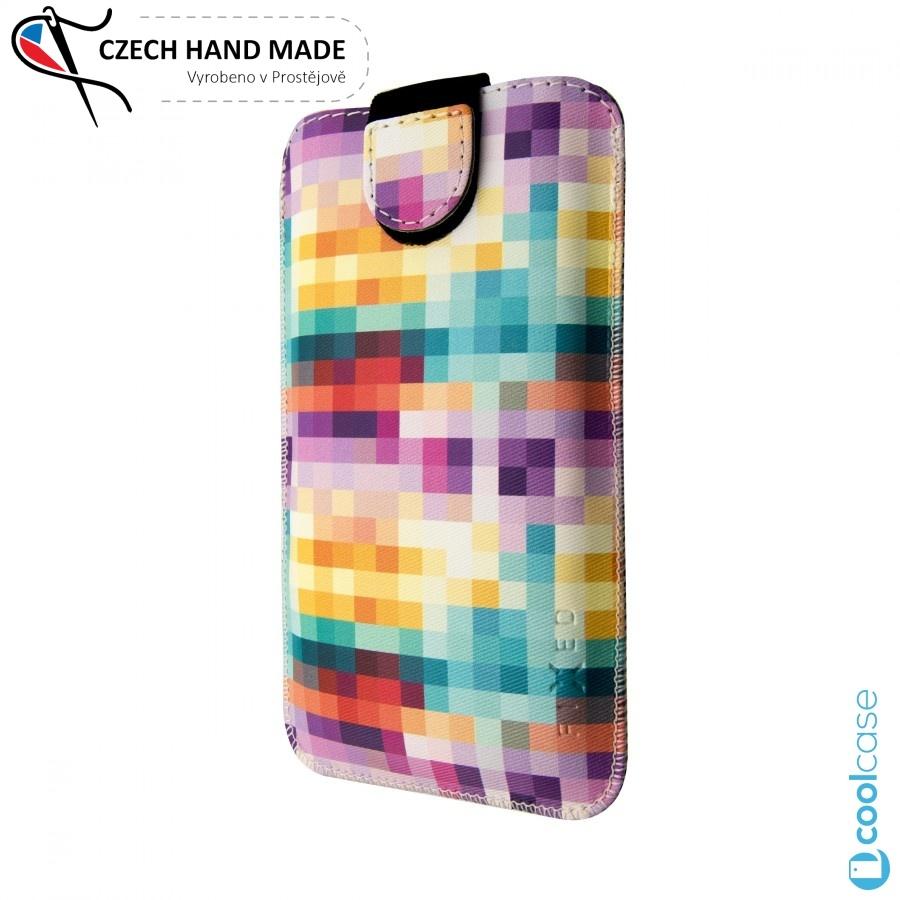 Univerzální kapsičkové pouzdro FIXED Soft Slim na mobily, vel. L, Dice (Univerzální pouzdro či kryt s vysouváním typu kapsička pro telefony s rozměry do 122,0 x 63,0 x 9,9 mm , velikost L, motiv Dice)