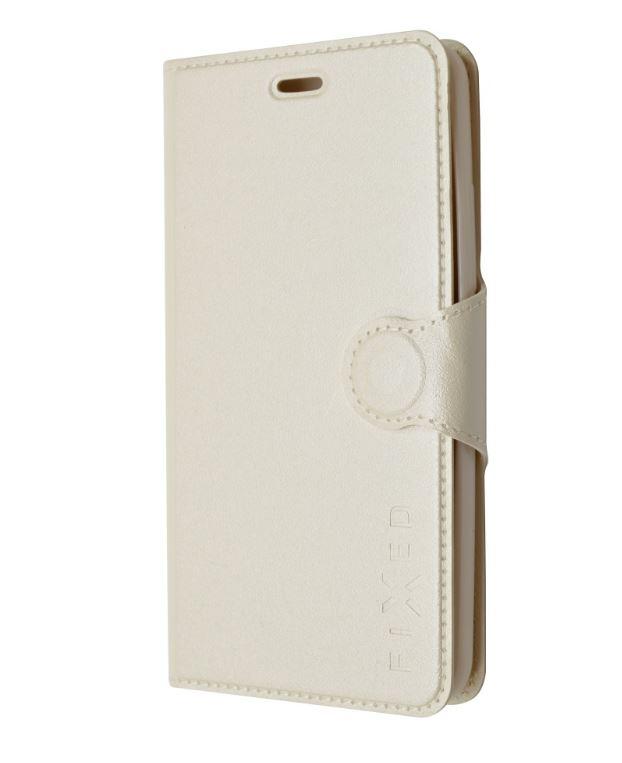 Flipové pouzdro FIXED typu kniha na mobil Samsung Galaxy Core Prime Bílé (Flip vyklápěcí knížkové pouzdro Fixed na mobilní telefon Samsung Galaxy Core Prime VE Bílé)