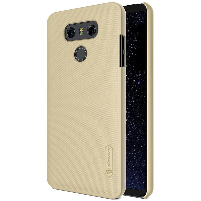 Plastové pouzdro na mobilní telefon Nillkin Super Frosted pro LG G6 Zlaté (Kryt či obal Nillkin na mobil LG G6 zlatavé + fólie na displej)