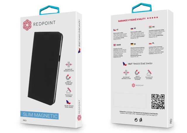 Flipové pouzdro na mobil REDPOINT Nokia 6 Černé (Flipové knížkové vyklápěcí pouzdro REDPOINT na mobilní telefon Nokia 6 Černé)