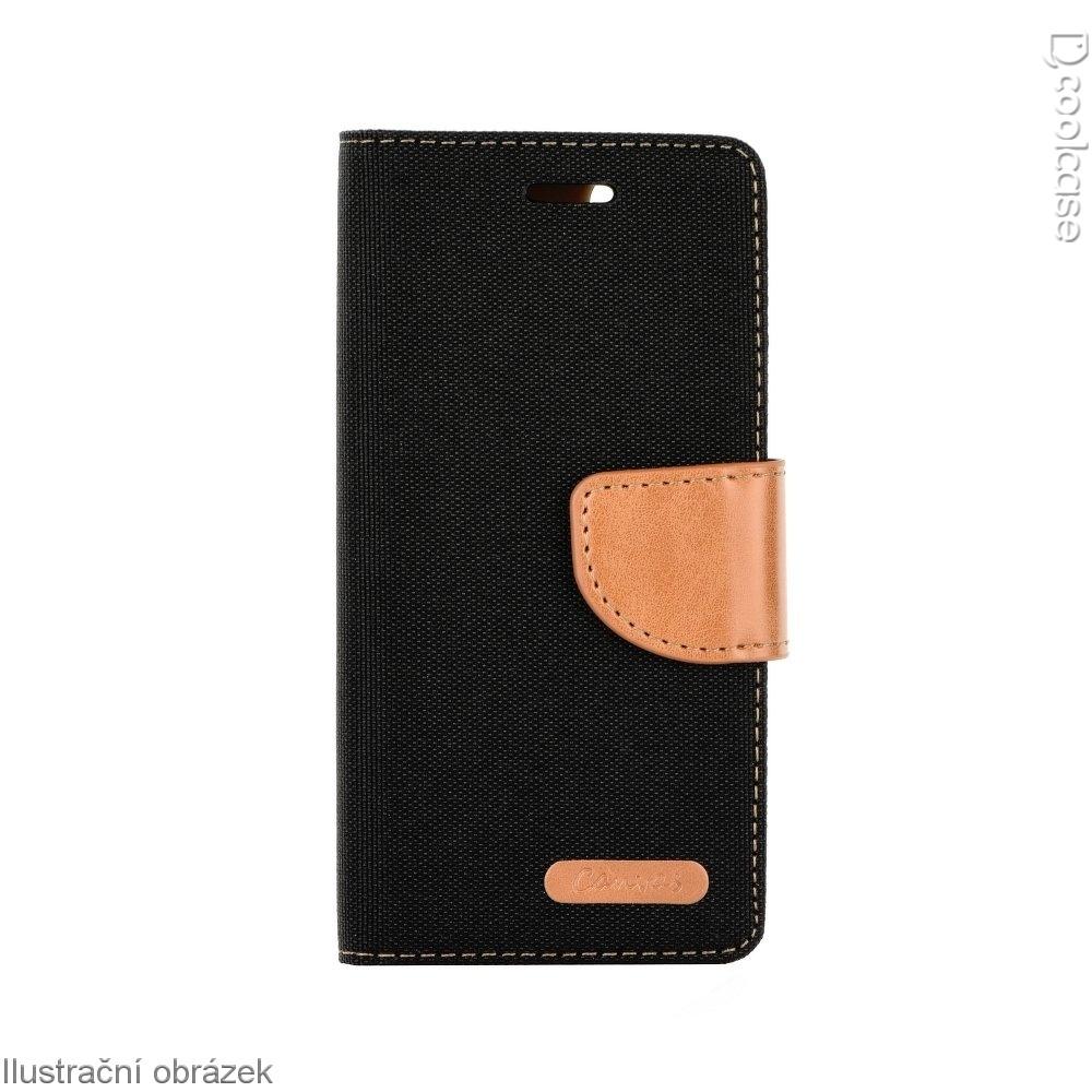 Luxusní flipové pouzdro Canvas Book pro LG G6 černé (Flipové knížkové vyklápěcí pouzdro na mobilní telefon LG G6 černé)