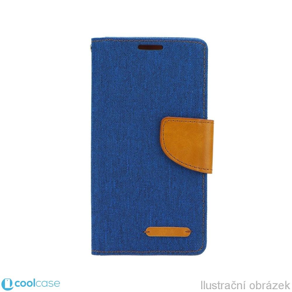 Luxusní flipové pouzdro Canvas Book pro LG G6 modré (Flipové knížkové vyklápěcí pouzdro na mobilní telefon LG G6 modré)
