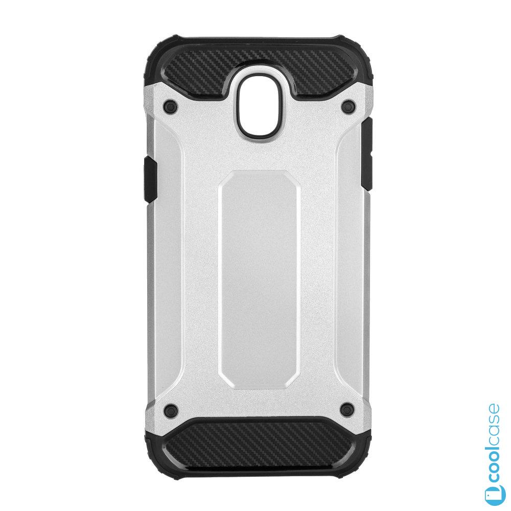 Odolné pouzdro Forcell Armor na mobil Samsung Galaxy J3 (2017) Stříbrné (Odolný kryt či obal Forcell Armor na mobil Samsung Galaxy J3 (2017) ve Stříbrné barvě)