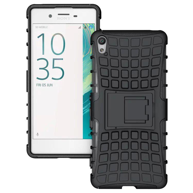 Odolné pouzdro PANZER CASE na mobilní telefon Sony Xperia XA1 Černé (Odolný kryt či obal PANZER CASE na mobil Sony Xperia XA1 se stojánkem Černý)