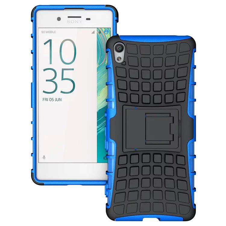 Odolné pouzdro PANZER CASE na mobilní telefon Sony Xperia XA1 Modré (Odolný kryt či obal PANZER CASE na mobil Sony Xperia XA1 se stojánkem Modrý)