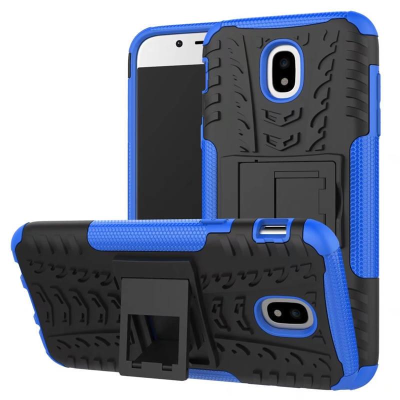 Odolné pouzdro PANZER CASE NEO na mobil Samsung Galaxy J3 (2017) Modré (Odolný kryt či obal Panzer na mobil Samsung Galaxy J3 (2017) se stojánkem - Modrý)