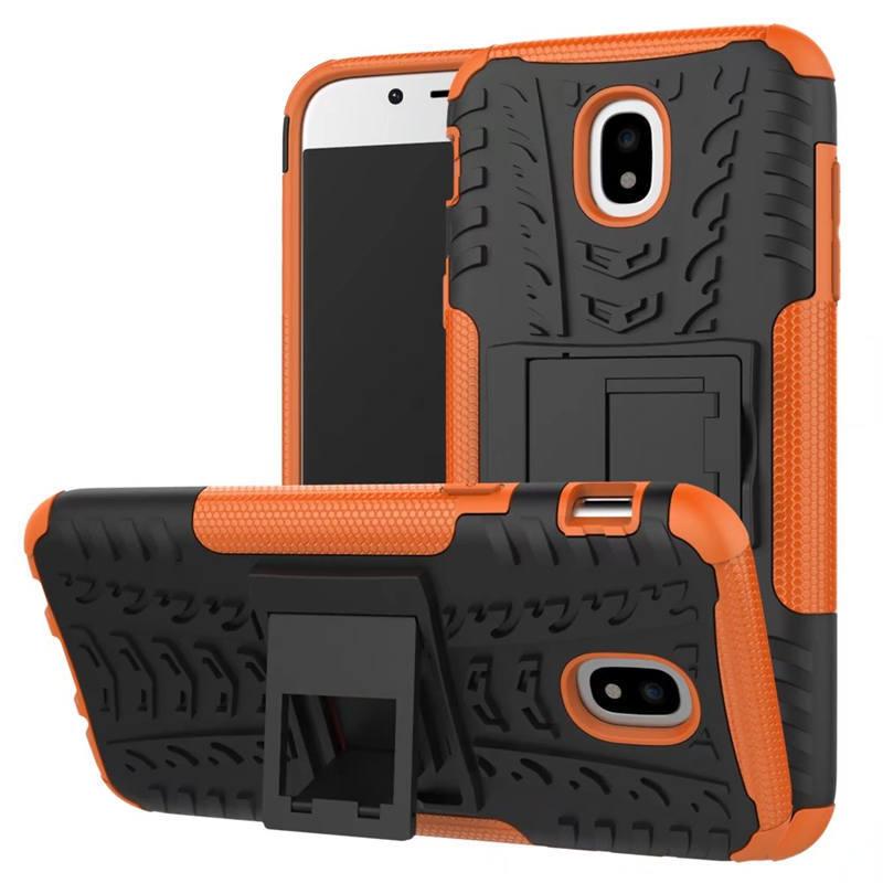 Odolné pouzdro PANZER CASE NEO na mobil Samsung Galaxy J7 (2017) Oranžové (Odolný kryt či obal Panzer na mobil Samsung Galaxy J7 (2017) se stojánkem - Oranžový)