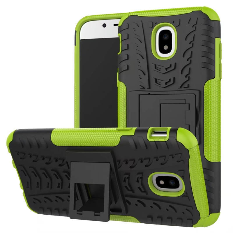 Odolné pouzdro PANZER CASE NEO na mobil Samsung Galaxy J3 (2017) Zelené (Odolný kryt či obal Panzer na mobil Samsung Galaxy J3 (2017) se stojánkem - Zelený)