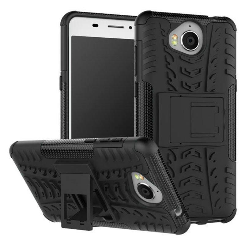 Odolné pouzdro na mobil PANZER CASE NEO na mobil Huawei Y6 2017 Černé (Odolný kryt či obal na mobil Huawei Huawei Y6 2017 se stojánkem černý)