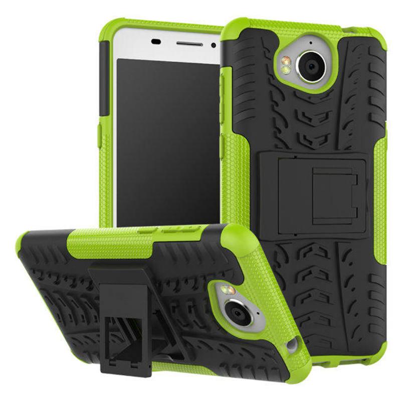 Odolné pouzdro na mobil PANZER CASE NEO na mobil Huawei Y6 2017 Zelené (Odolný kryt či obal na mobil Huawei Huawei Y6 2017 se stojánkem Zelený)
