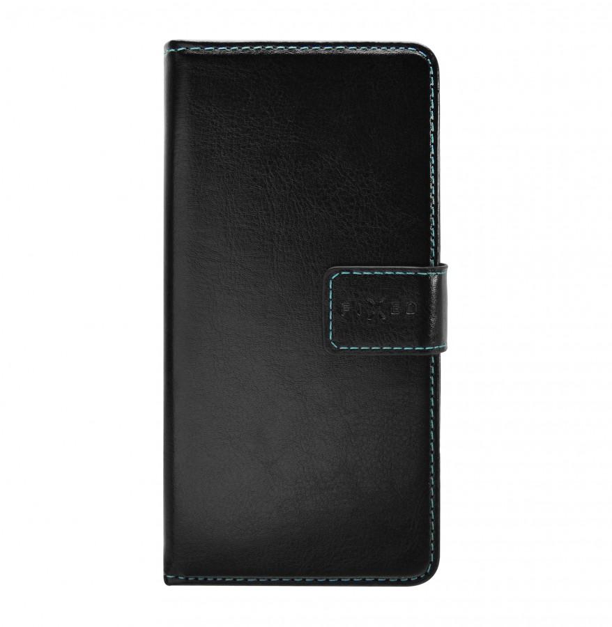Flipové knížkové pouzdro Fixed Opus na mobil HTC Desire 650 Černé (Flip vyklápěcí kryt či obal Fixed Opus na mobil HTC Desire 650 Černé)