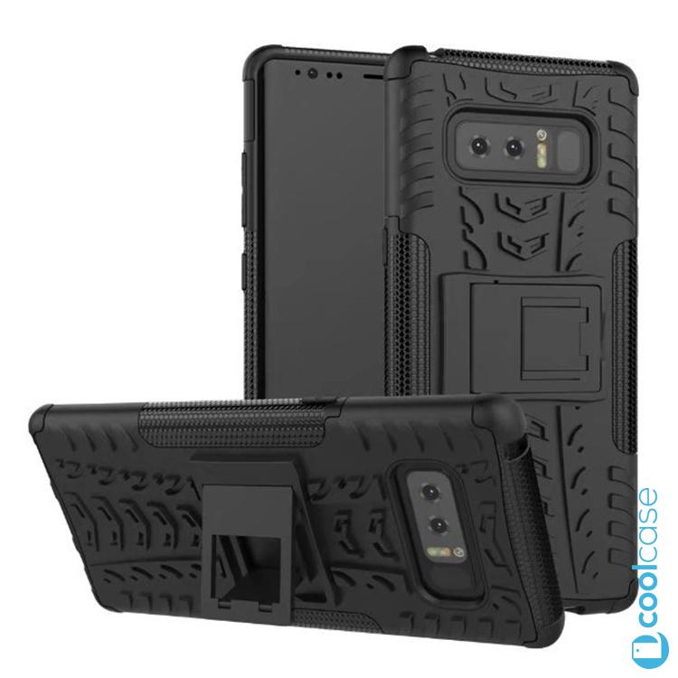 Odolné pouzdro PANZER CASE NEO na mobil Samsung Galaxy Note 8 Černé (Odolný kryt či obal Panzer na mobil Samsung Galaxy Note 8 se stojánkem - Černý)