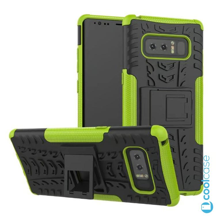 Odolné pouzdro PANZER CASE NEO na mobil Samsung Galaxy Note 8 Zelené (Odolný kryt či obal Panzer na mobil Samsung Galaxy Note 8 se stojánkem - Zelený)