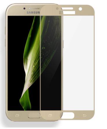 Ochranné sklo Tactical 2,5D pro Samsung Galaxy J3 (2017) na celý displej - Zlaté (Tvrzenné ochranné 2,5D full face sklo Samsung Galaxy J3 (2017) - tempered glass gold)