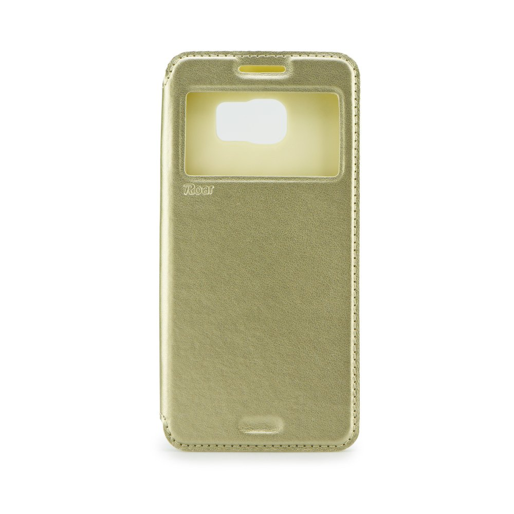 Flipové pouzdro s okénkem ROAR Noble na mobil Sony Xperia Z1 Zlatavé (Flip knížkový kryt či obal na mobil Sony Xperia Z1 s okénkem)