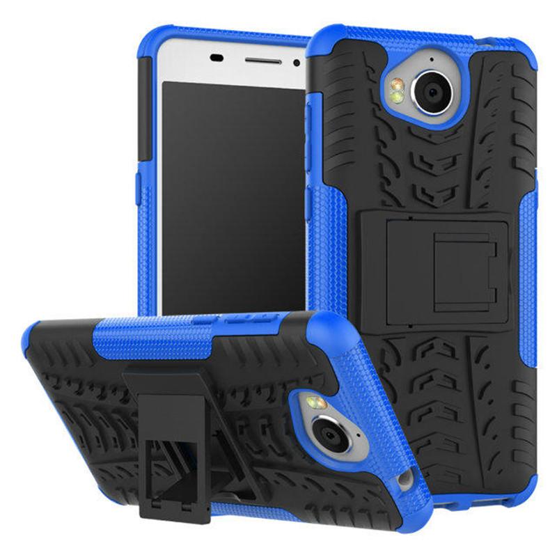 Odolné pouzdro na mobil PANZER CASE NEO na mobil Huawei Y6 2017 Modré (Odolný kryt či obal na mobil Huawei Huawei Y6 2017 se stojánkem modrý)